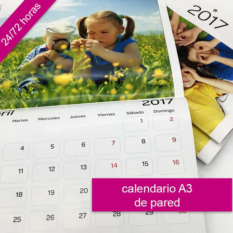 Calendarios de pared personalizados con fotos 2017 con Imprenta digital REPROTEL